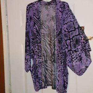 Purple  Kimono Style